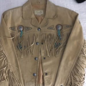 Never Worn Women's Suede Fringe Jacket